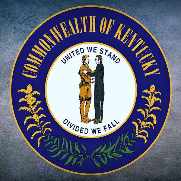 Digital Art - Kentucky State Seal by Movie Poster Prints