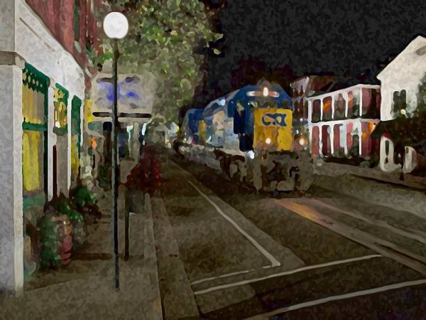 Mixed Media - Kentucky Train by Dennis Buckman