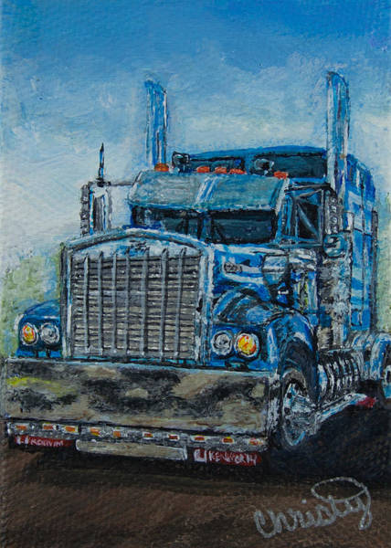 Kenworth Painting - Kenworth by Christy Hollibone
