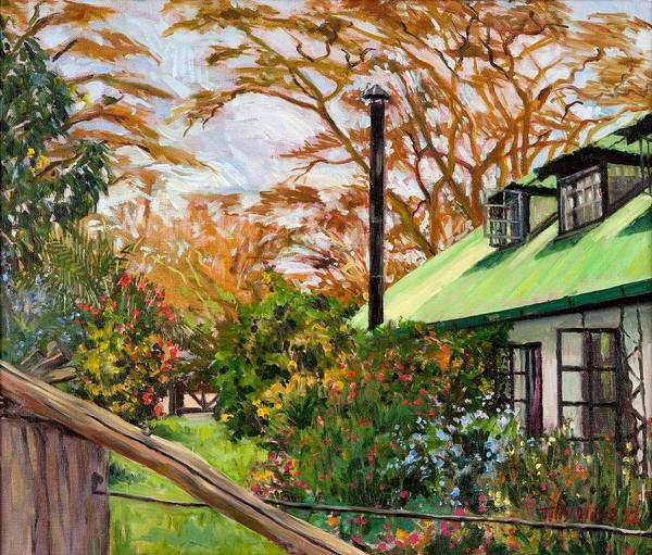 Wall Art - Painting - Kenyan Garden by Tilly Willis