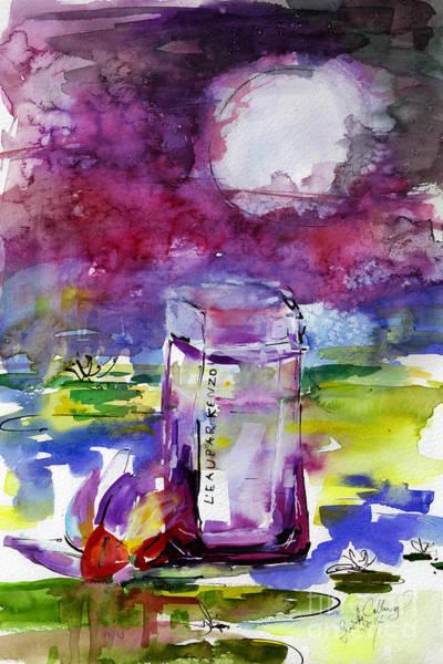 Painting - Kenzo Leau Par Eau Indigo Pour Femme by Ginette Callaway