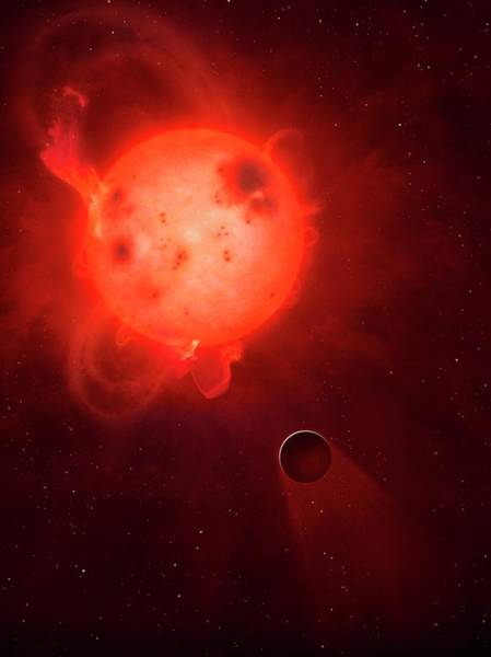 Index Photograph - Kepler 438 And Rocky Planet 438b by Mark Garlick