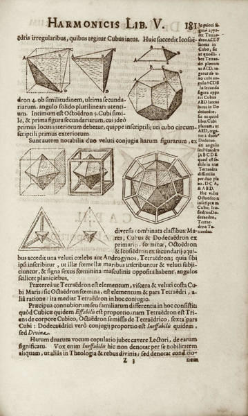 1600s Wall Art - Photograph - Kepler On Platonic Solids by Library Of Congress