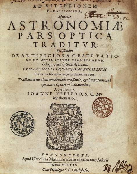 Title Page Wall Art - Photograph - Kepler's 'astronomiae Pars Optica' (1604) by Middle Temple Library
