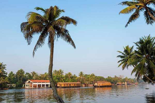 Houseboat Photograph - Kerala Backwaters Near Alleppey by Peter Adams