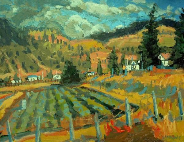 Okanagan Valley Painting - Keremeos by Brian Simons