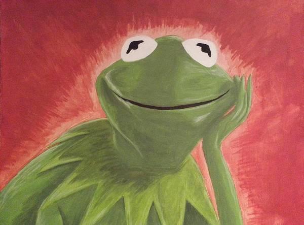 Frog Painting - Kermit by Jason Kopczick