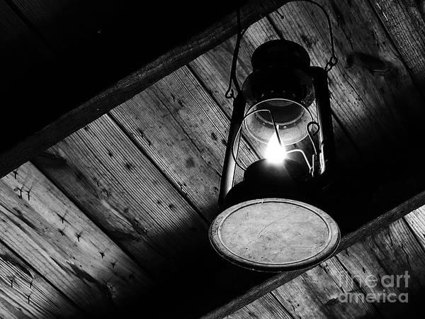 Bonneyville Mill Wall Art - Photograph - Kerosene Lamp by Tina M Wenger