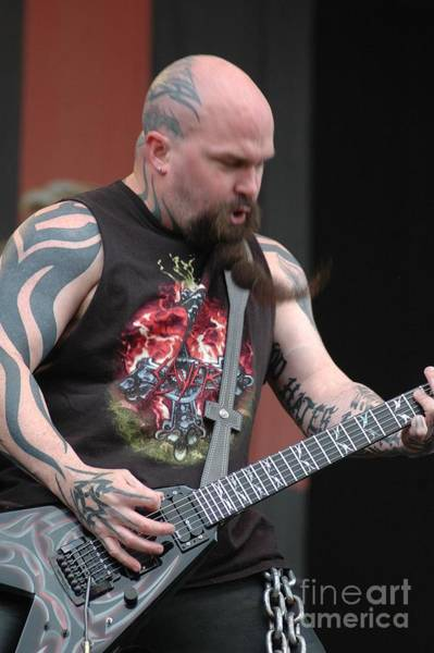 Photograph - Kerry King From Slayer by Jenny Potter
