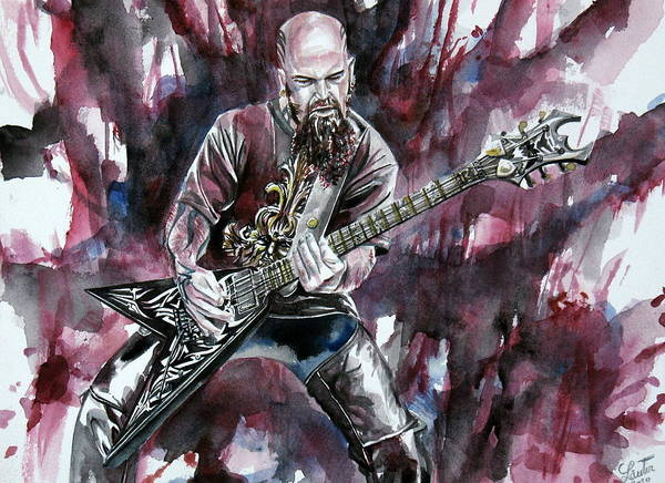 Slayer Painting - Kerry King Portrait by Fabrizio Cassetta