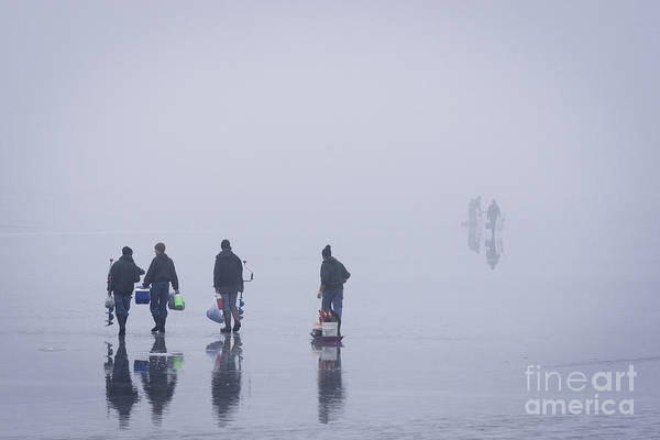 Wall Art - Photograph - Keuka Ice Fishing 2 by Roger Bailey