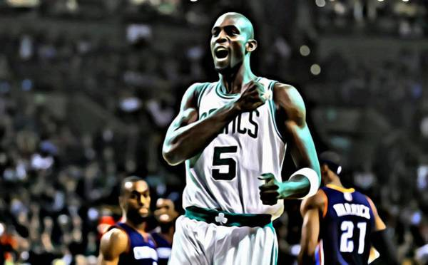 Wall Art - Painting - Kevin Garnett by Florian Rodarte