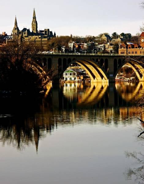 Key Bridge And Georgetown  Art Print