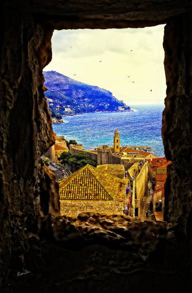 Wall Art - Photograph - Key Hole View Of Dubrovnik 2 by Madeline Ellis
