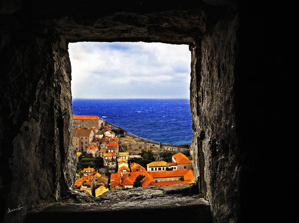 Wall Art - Photograph - Key Hole View Of Dubrovnik by Madeline Ellis