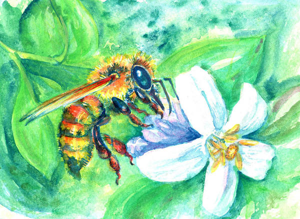 Painting - Key Lime Honeybee by Ashley Kujan
