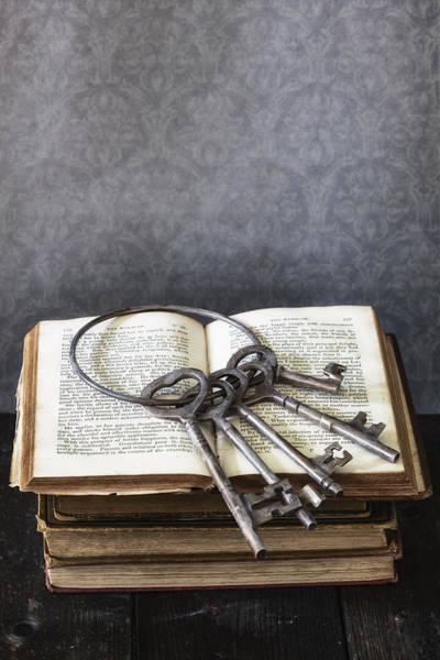 Library Photograph - Key Ring by Joana Kruse