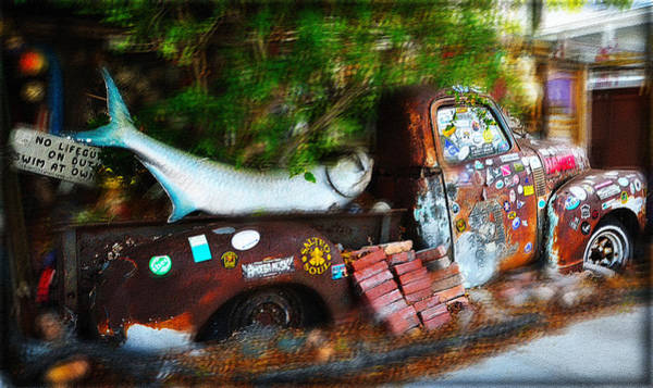 Photograph - Key West - B.o.'s Fish Wagon by Bill Cannon