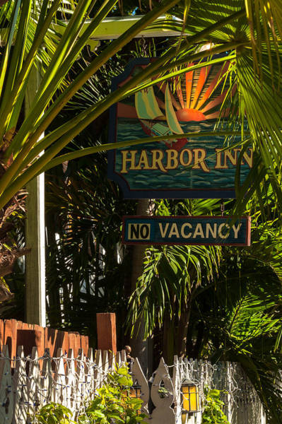 Photograph - Key West Harbor Inn Sign by Ed Gleichman