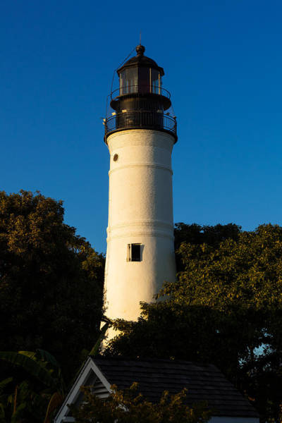 Photograph - Key West Lighthouse At Sundown by Ed Gleichman