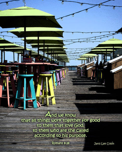 Photograph - Key West Pier Romans 8 by Janis Lee Colon