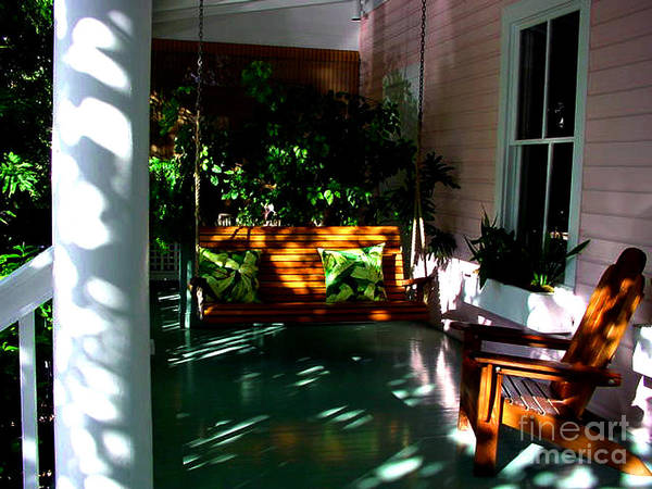 Photograph - Key West Porch by Susanne Van Hulst