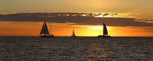 Photograph - Key West Sunset Fleet by R B Harper