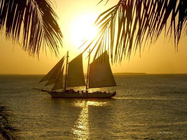 Sun Set Photograph - Key West Sunset by Joan  Minchak