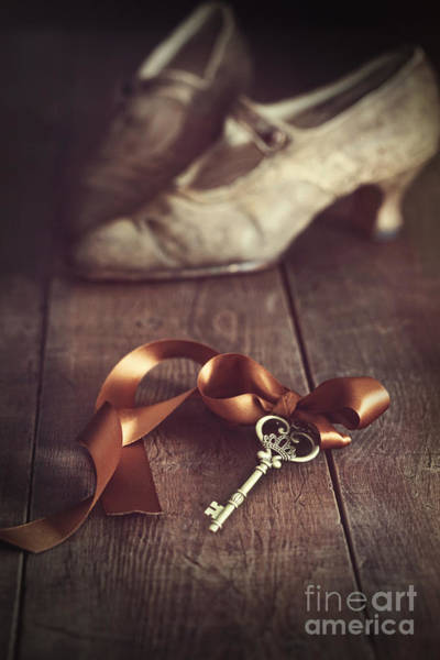 Photograph - Key With Ribbon And Shoes by Sandra Cunningham