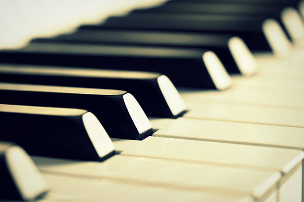Piano Photograph - Keyboard Of A Piano by Chevy Fleet