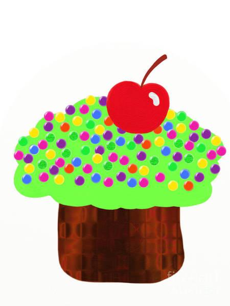 Digital Art - Keylime Cupcake by Andee Design