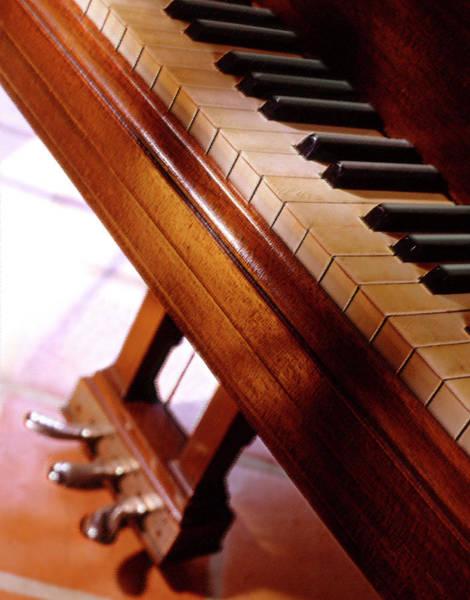 Grand Piano Digital Art - Keys by Mike McGlothlen