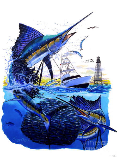 Fishing Boat Painting - Keys Sail by Carey Chen
