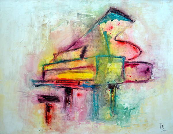 Musical Instrument Painting - Keys To The Soul  by Ivan Guaderrama