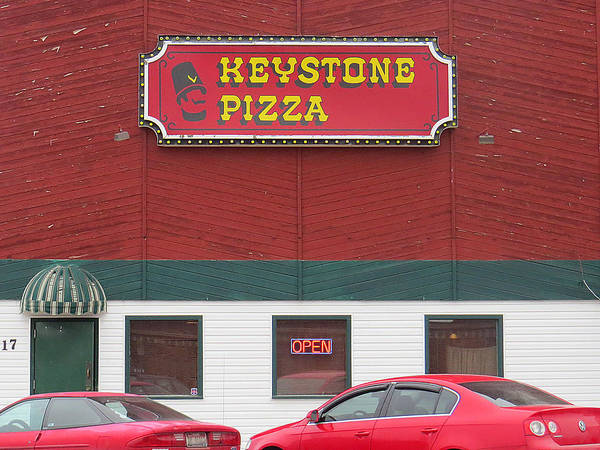 Keystone Pizza Art Print