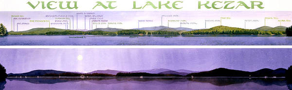 Maine Wall Art - Painting - Kezar Lake View by Mary Helmreich