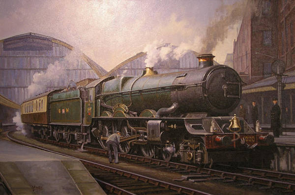 Vintage Train Painting - Kg5 At Paddington. by Mike Jeffries