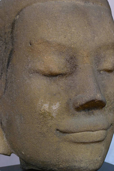 Photograph - Khmer Head by August Timmermans