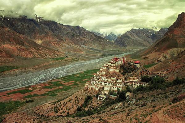 Valley Photograph - Ki Monastery by M. Mehdi Fazelbeygi