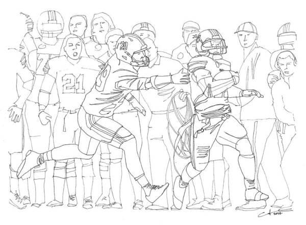 Toomer Wall Art - Drawing - Kick Six by Calvin Durham