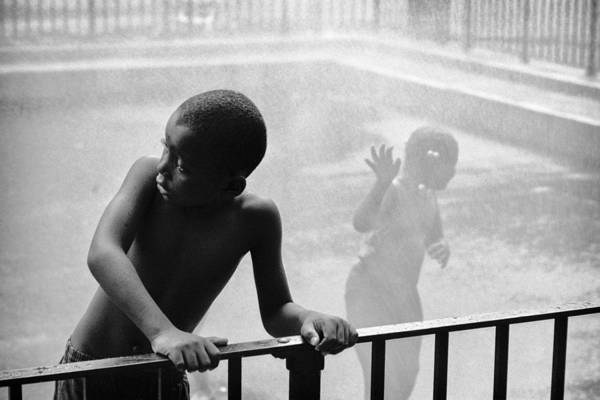 Kid In Sprinkler Art Print