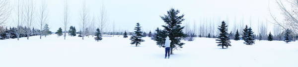 Christmass Photograph - Discovering Snow by Marguel Gutierrez