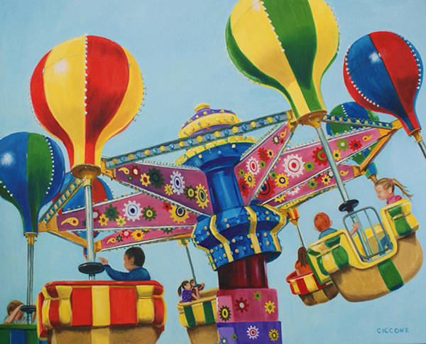 Painting - Kiddie Ride by Jill Ciccone Pike