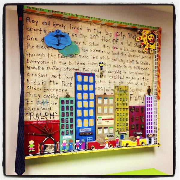Wall Art - Mixed Media - Kids In The City by Benjamin Bullins