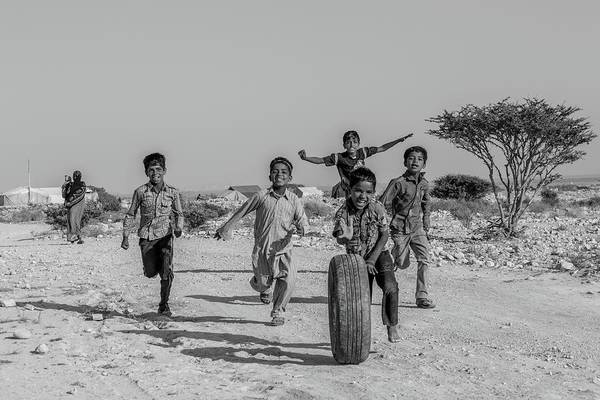 Wall Art - Photograph - Kids Playing by Mohammad Shefaa