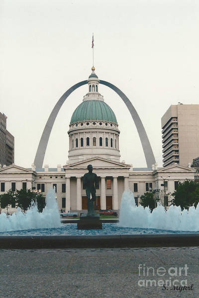 Dred Photograph - Kiener Plaza - St Louis Missouri by S Mykel Photography