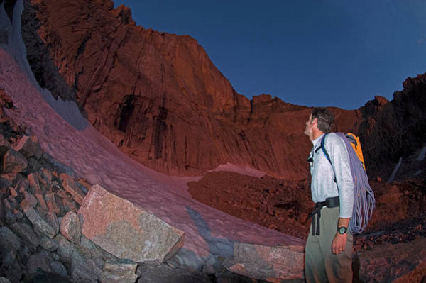 Fourteener Photograph - Kieners Route, Longs Peak, Rocky by Jake Norton