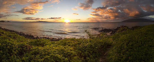 Kihei Photograph - Kihei Sunset Panorama by Brad Scott