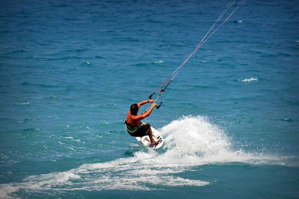 Kite Surfing Photograph - Kiholo Kitesurfer by Lori Seaman