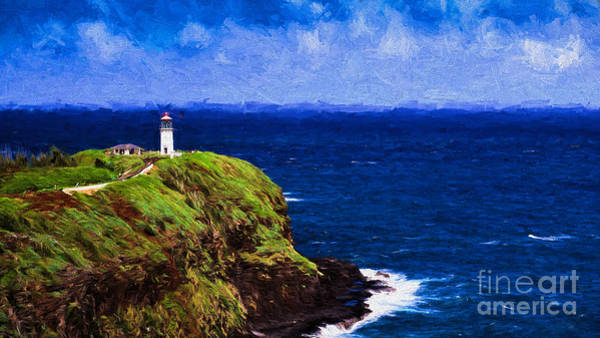 Photograph - Kilauea Lighthouse Kauai by Les Palenik
